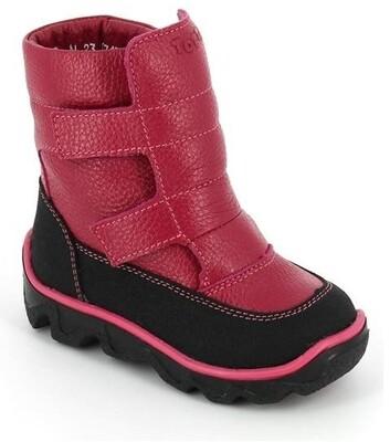 452-МП-04 (фуксия) ТОТТА Ботинки зимние (нат. мех), размеры 23-26