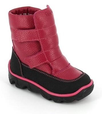 453-ТП-06 (фуксия) ТОТТА Ботинки зимние (нат. шерсть), размеры 23-26