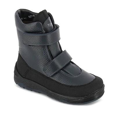 357/1-МП-01 (синий) ТОТТА Ботинки зимние, подклад нат. мех, размеры 32-35
