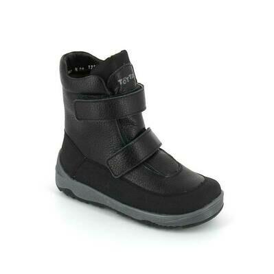 3507-ТП-01 (черные) Ботинки зимние, подклад нат. шерсть, размеры 32-35
