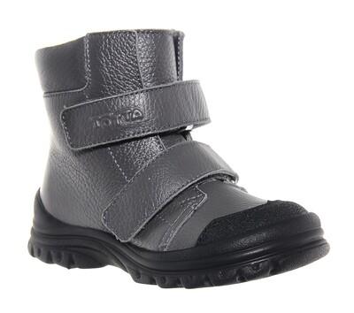 3381-БП-04 (серый) ТОТТА Ботинки нат. кожа на байке, размеры 23-25
