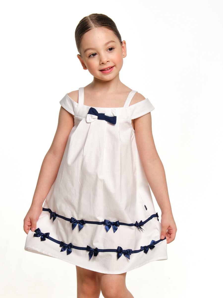 UD 2920 белый  Mini Maxi Платье с бантиками (98-122см)