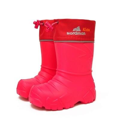 2-110-R02 (красный) Сапоги ЭВА Nordman Kids (cо съемным мехом), размеры 28/29-30/31