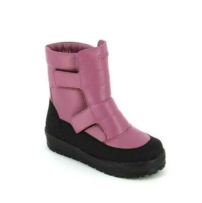 394-МП-01 (сирень) ТОТТА Ботинки зимние нат. кожа, нат. мех, размеры 27-31