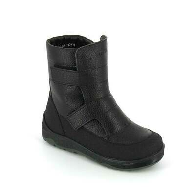 400-МП-02 (черный) ТОТТА Ботинки зимние, нат. кожа, нат. мех, размеры 27-31