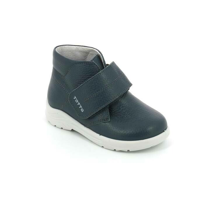 260-1-01 (джинс) Ботинки кожаные ТОТТА (полностью нат. кожа), размеры 27-31