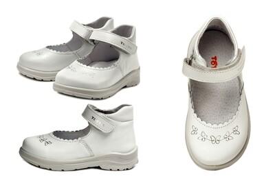 0227-03 Туфли ТОТТА полностью из натуральной кожи, размеры 23-26