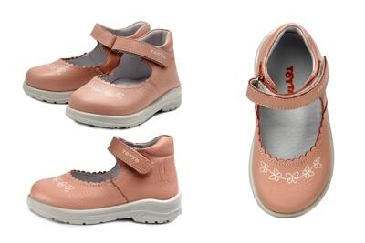 0227-02 Туфли ТОТТА полностью из натуральной кожи, размеры 23-26