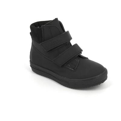 1126-НЗ-БП-03 (черный) Ботинки ТОТТА на байке из натуральной кожи, размеры 27-30