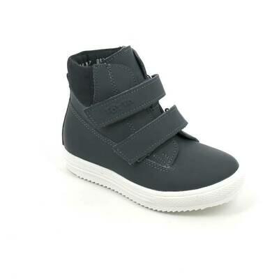 1126-НЗ-БП-01 (джинс/синий) Ботинки ТОТТА на байке из натуральной кожи, размеры 27-30