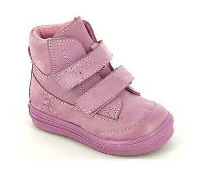 126-НЗ-БП-03 (сирень св.) Ботинки ТОТТА на байке из натуральной кожи, размеры 23-26
