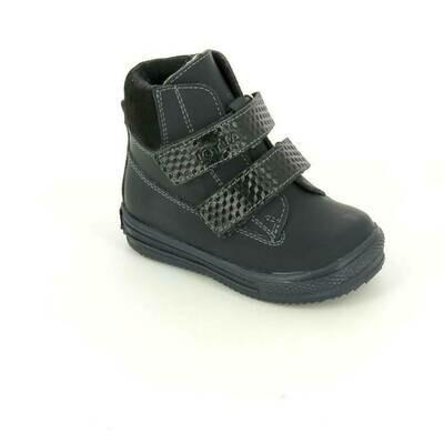 126-НЗ-БП-07 (синий) Ботинки ТОТТА из натуральной кожи на байке, размеры 23-26