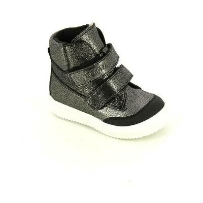 126-НЗ-БП-05 (черный блеск) Ботинки ТОТТА из натуральной кожи на байке, размеры 23-26