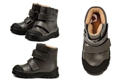 338-БП-03 Ботинки ТОТТА из натуральной кожи на байке, размеры 26-30