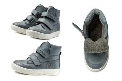 1126-НЗ-БП-05 (джинс св.) Ботинки ТОТТА на байке из натуральной кожи, размеры 27-30