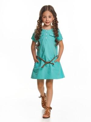 UD 4430(1)бирюза  Mini Maxi Платье с пояском (98-122см)
