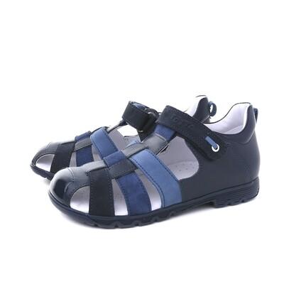 1153/1-02/1 (синий/джинс) Сандалеты ТОТТА из натуральной кожи, размеры 32-34