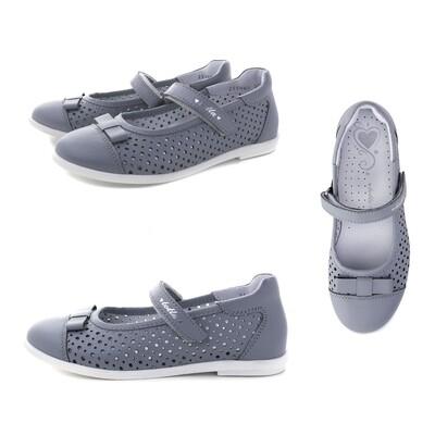 30001/3-КП-02 (серый св.) Туфли ТОТТА из натуральной кожи, размеры 31-36