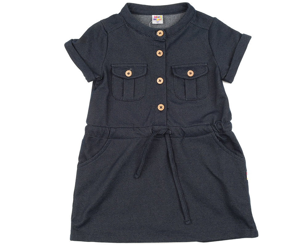 UD 0704(2)джинс  Mini Maxi Платье с кармашками (98-122см)