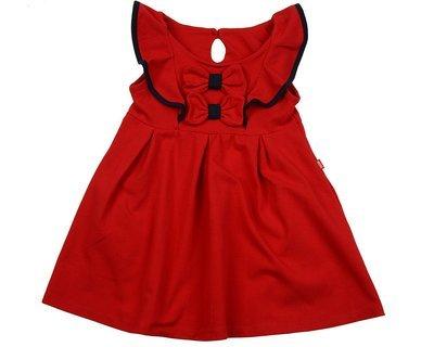 UD 1645 красн/син  Mini Maxi Платье с двумя бантиками (98-122см)