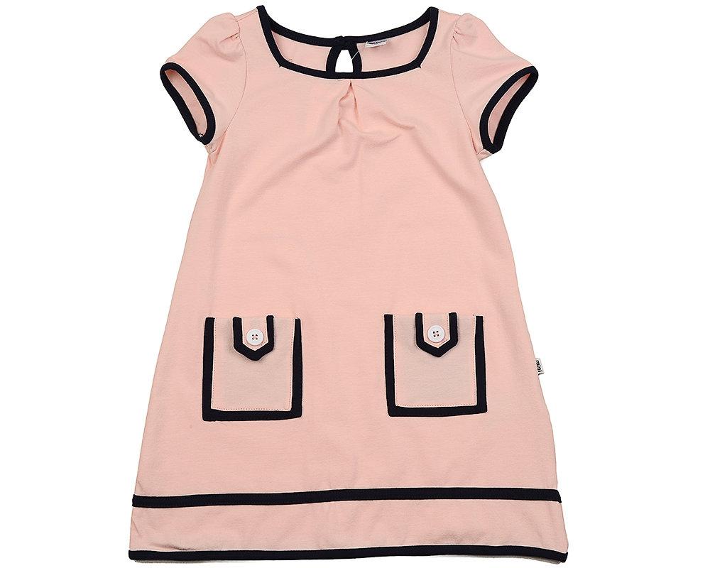 UD 1533 розов  Mini Maxi Платье с карманами (98-122см)