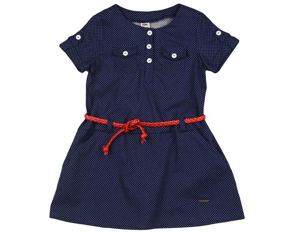 UD 4430(3)т.синий  Mini Maxi Платье с пояском (98-122см)