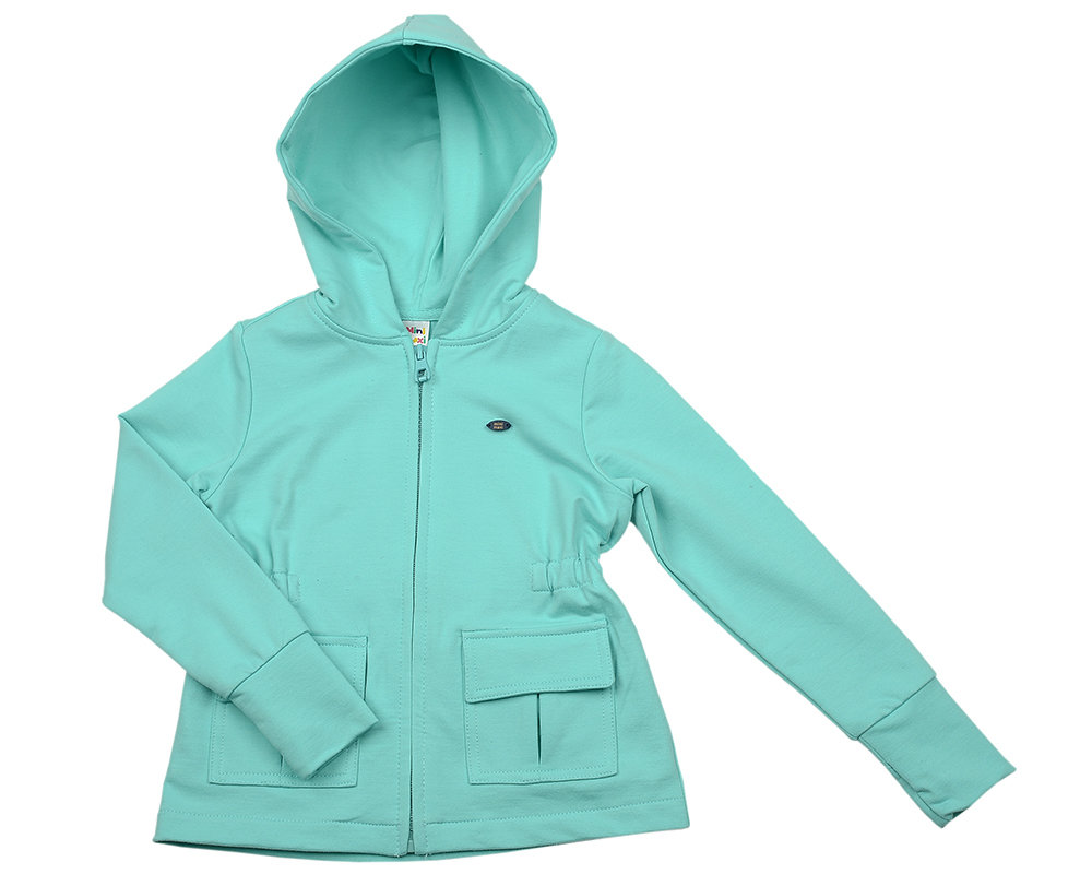 UD 3717(1)св.бирюза  Mini Maxi Куртка с карманами д/д (98-122см)