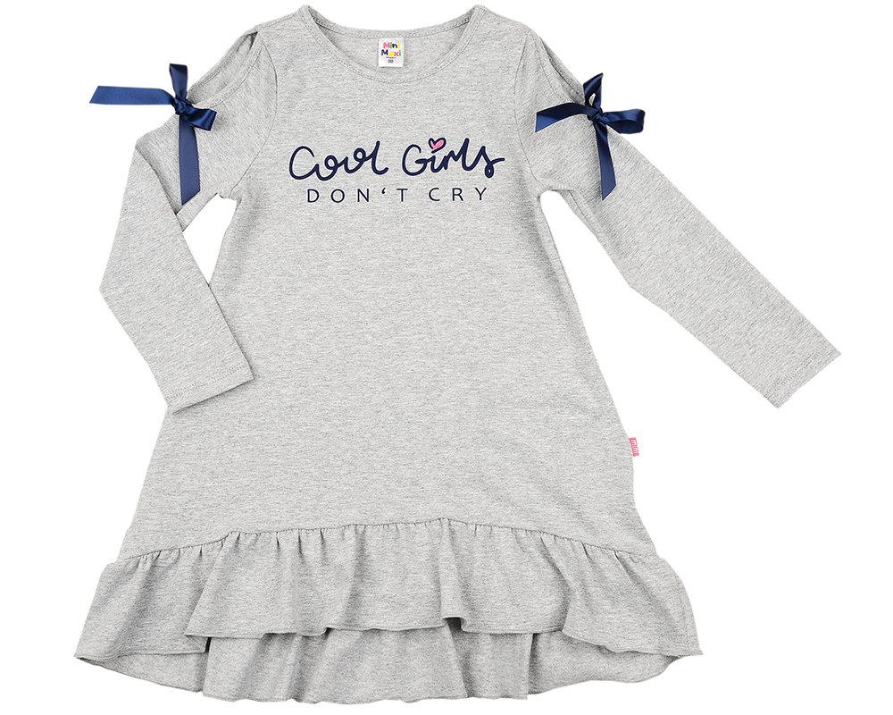 Платье (98-122см) UD 4987(2)серый