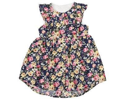 Платье (98-122см) UD 6063(1)син. цветы