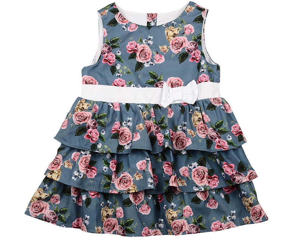 Платье (98-122см) UD 6208(1)син.розы