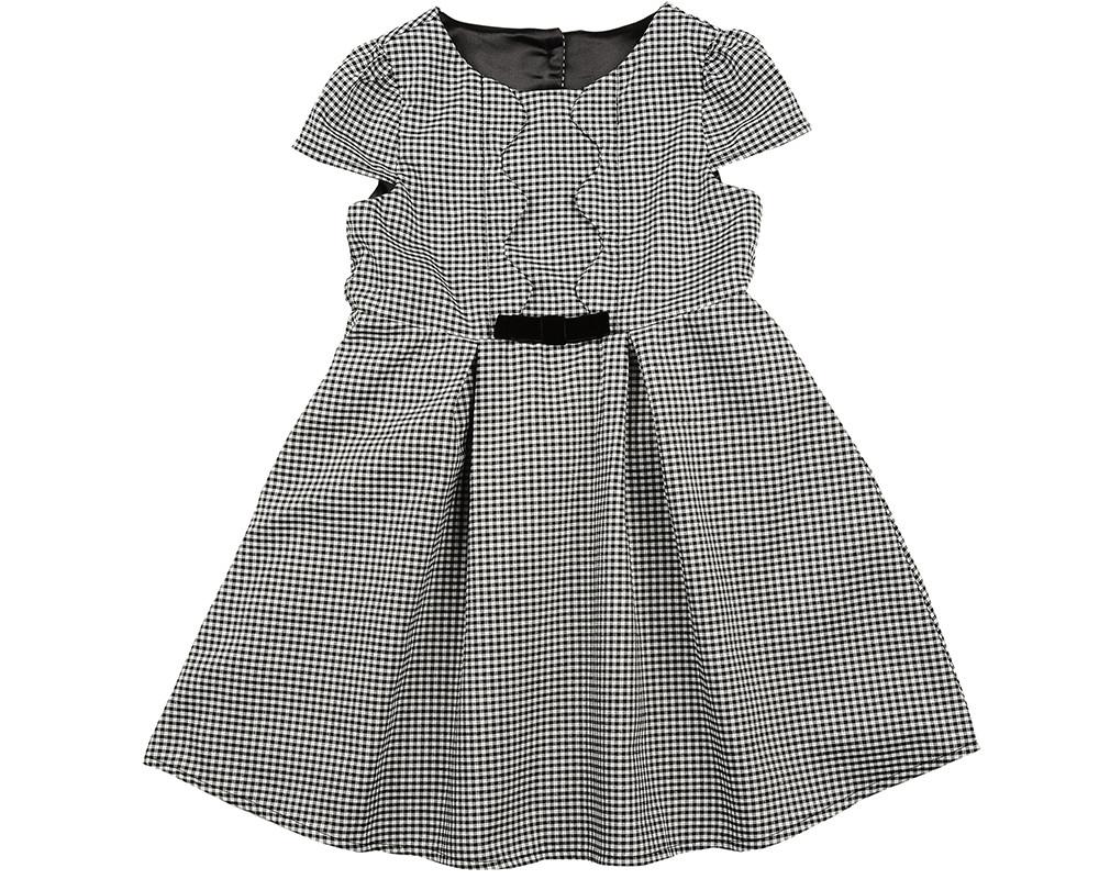Платье (98-122см) UD 6229(1)клетка.черн