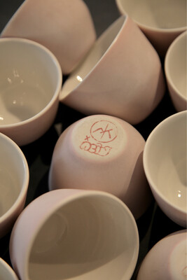 Porcelain cups ACID x MK Studio