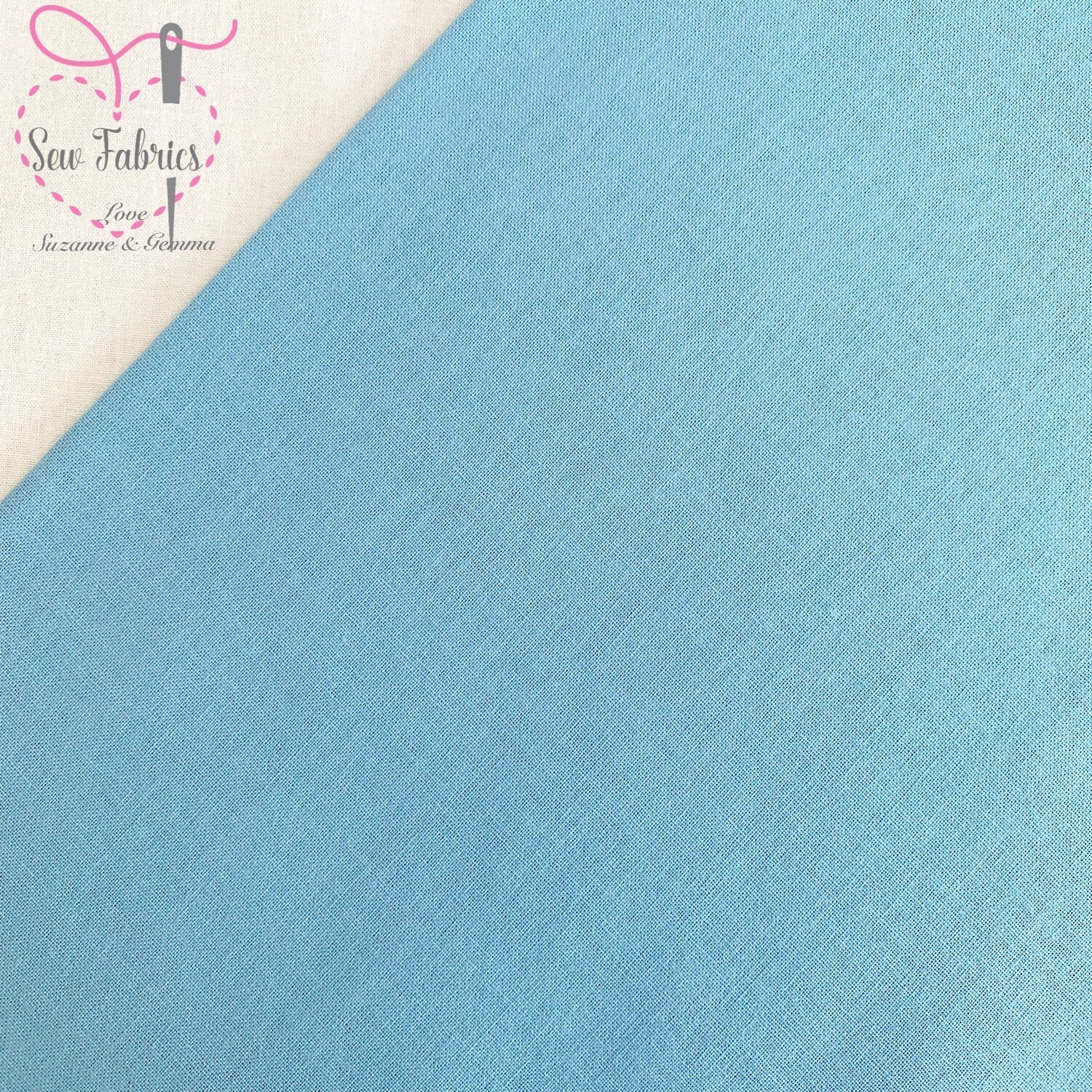 Duck Egg 100% Craft Cotton Solid Fabric Plain Blue Material