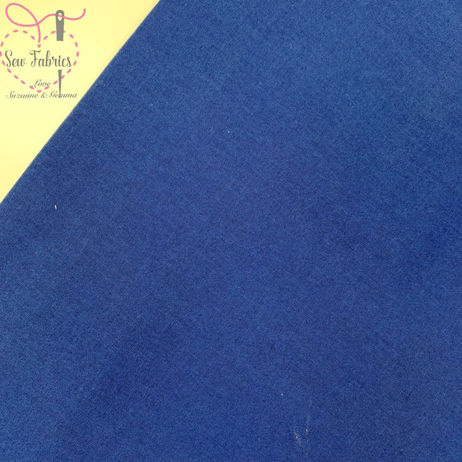 Navy 100% Craft Cotton Solid Fabric Plain Dark Blue Material
