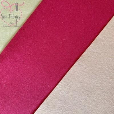 John Louden Fuschia Pink Glitter Fabric Backed onto Pale Pink Acrylic Felt