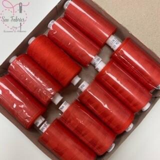 10 x 1000y Coats Moon Thread Box - Red M012