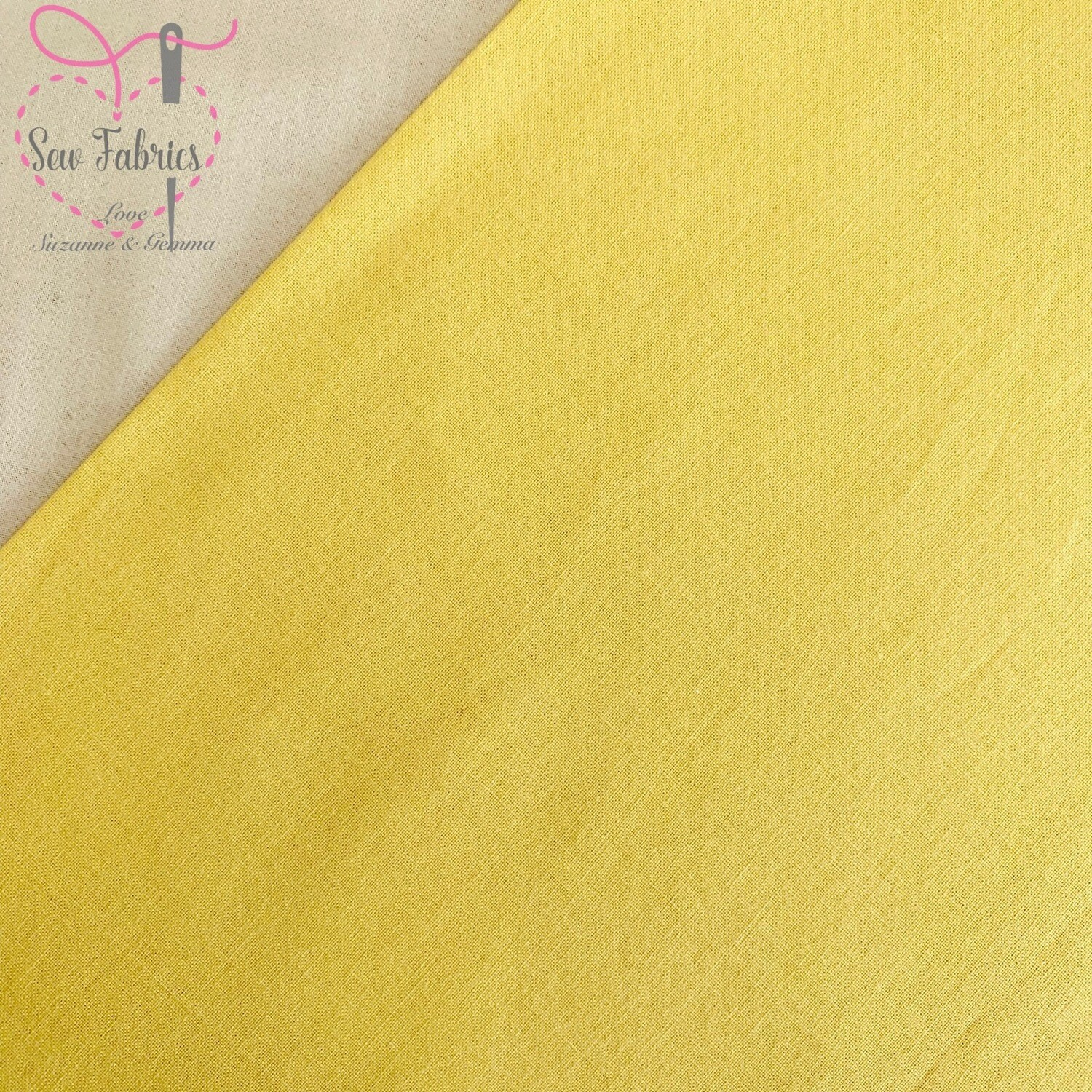 Lemon Yellow 100% Craft Cotton Solid Fabric Plain Material