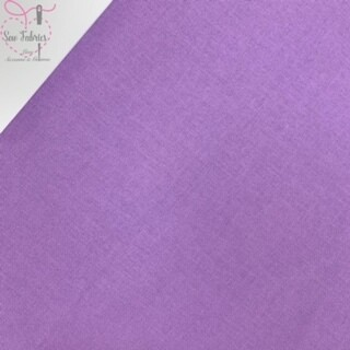Lavender 100% Craft Cotton Solid Fabric Plain Pale Purple Material