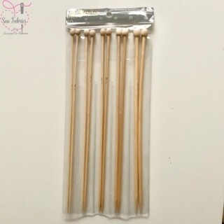 Pack of 5 Darice Bamboo Knitting Needles / Pins in Sizes 3.5mm, 4mm, 4.5mm, 5mm and 6mm