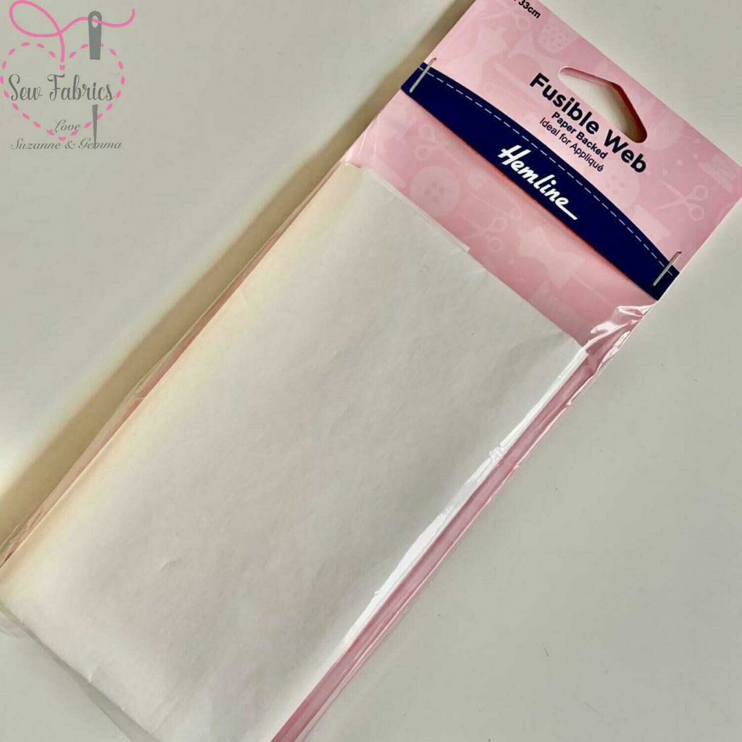 Hemline fusible web, paper backed, ideal for applique