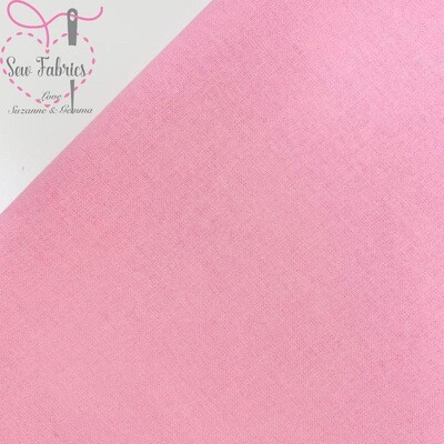 Candy Pink 100% Craft Cotton Solid Fabric Plain Material