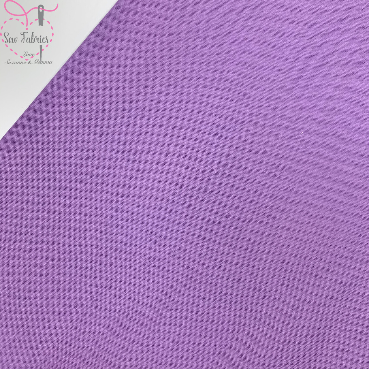 Lavender 100% Craft Cotton Solid Fabric Plain Pale Purple Material