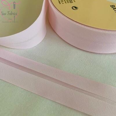 25 metre reel of Pink Azalea Plain Polycotton Bias Binding 30mm