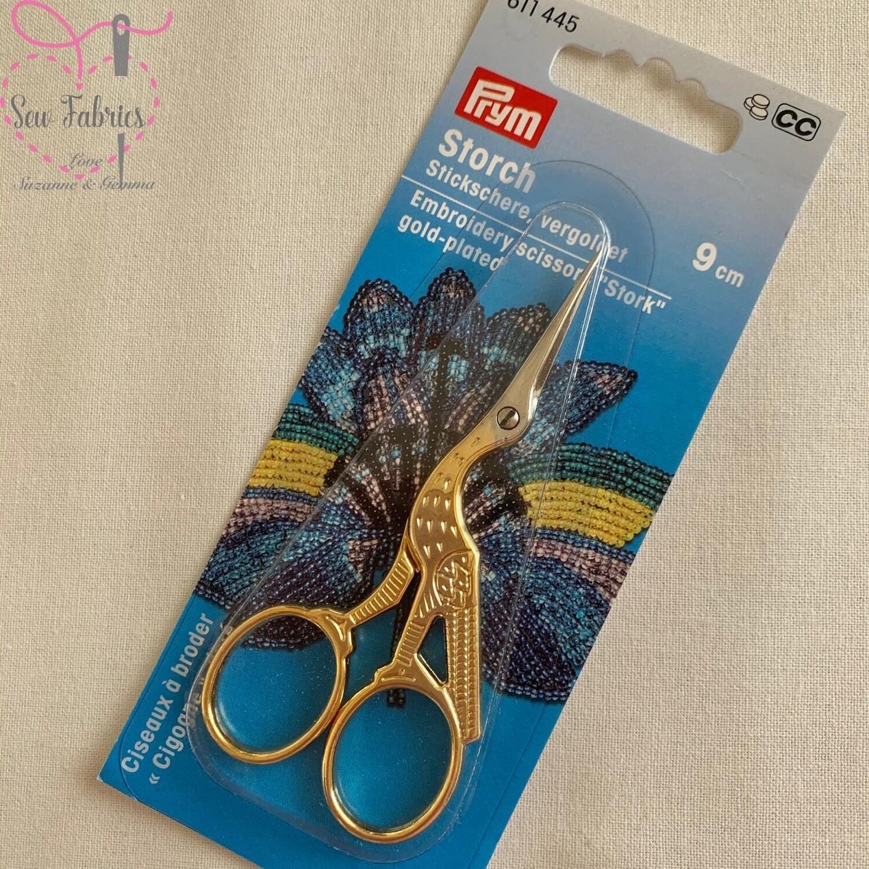 "Prym 3.5""/9cm Stork embroidery scissors"
