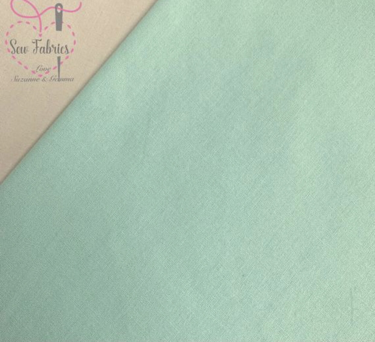 Mint 100% Craft Cotton Solid Fabric Plain Green Material