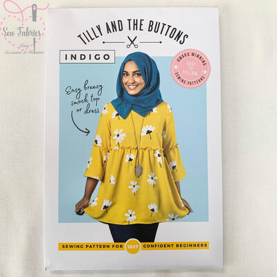 Indigo Top and Dress Printed Sewing Pattern by Tilly and The Buttons