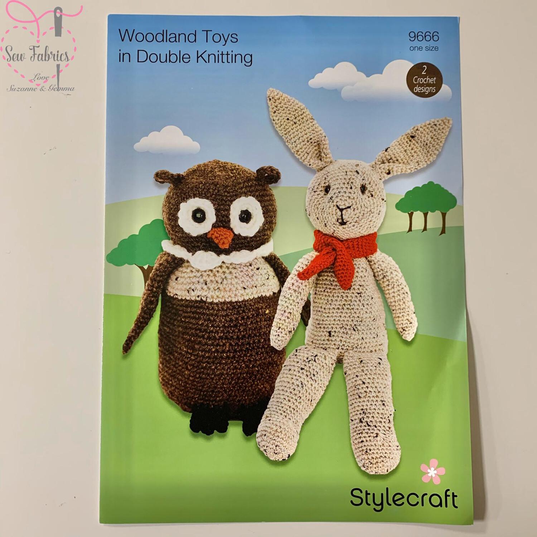 Woodland Toys, Owl And Rabbit - Stylecraft Crochet Printed Pattern