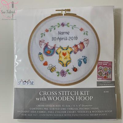 Birth Sampler DMC Cross Stitch Hoop Kit BCS02