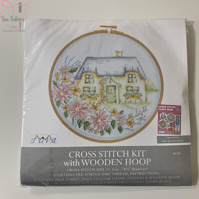Country Retreat DMC Cross Stitch Hoop Kit DCS03