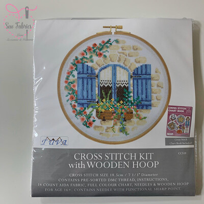French Cottage DMC Cross Stitch Hoop Kit CCS10